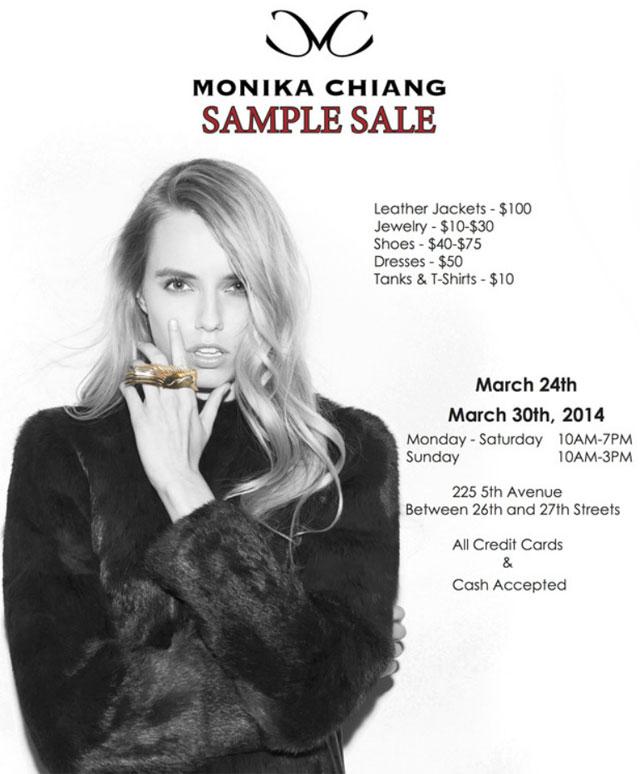 Monika Chiang Sample Sale