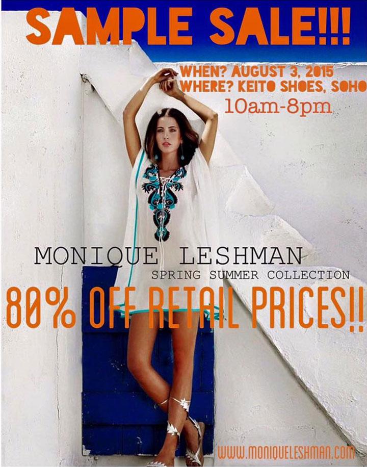 Monique Leshman Sample Sale