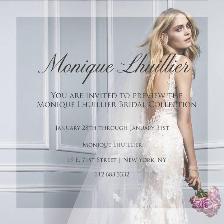 Monique Lhuillier Fall 2015 Bridal New York Trunk Show ...