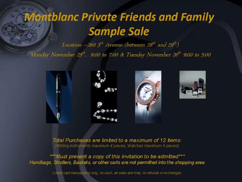 Montblanc Friends and Family Sale