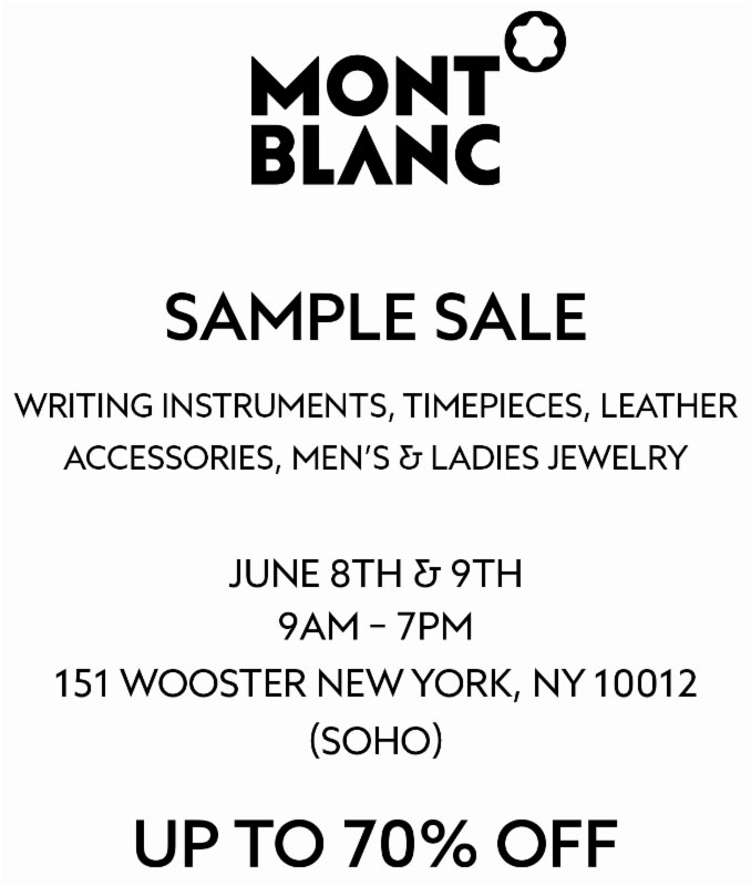 Montblanc Private Sample Sale