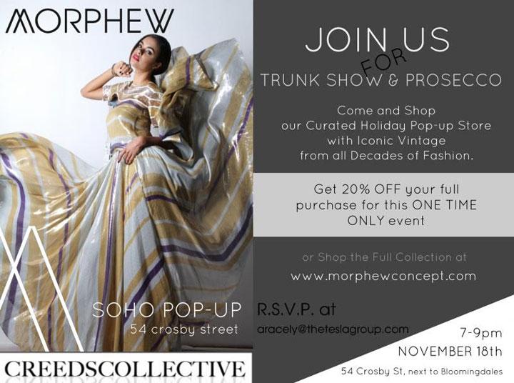 Morphew Trunk Show & Prosecco Event