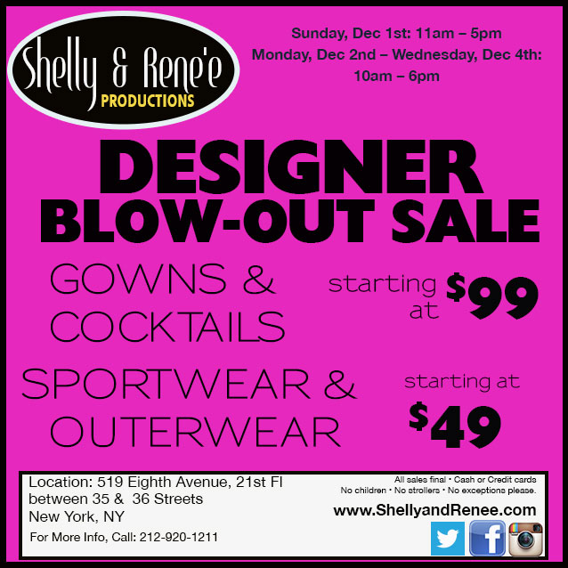 Designer Blow-out Sale