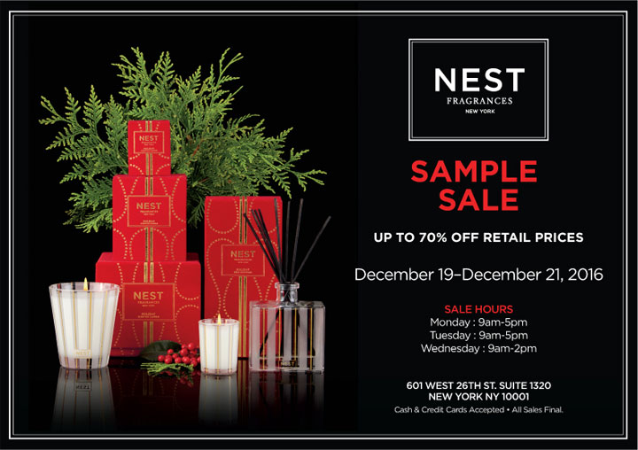 NEST Fragrances Sample Sale