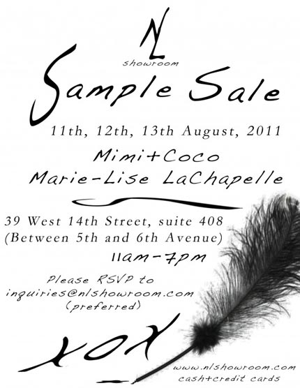Mimi + Coco and Marie Lise Chapelle Sample Sale