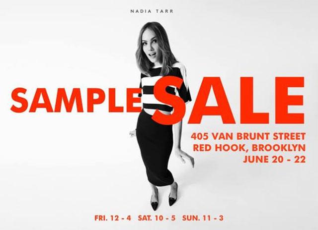Nadia Tarr Sample Sale