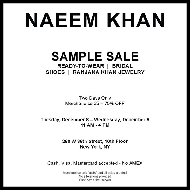 Naeem Khan Sample Sale