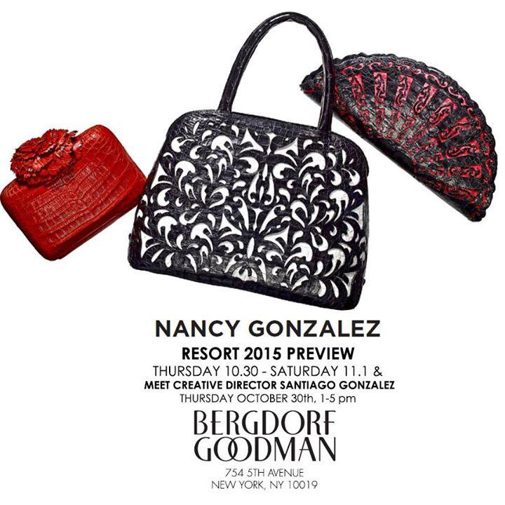 Nancy Gonzalez Resort 2015 Trunk Show