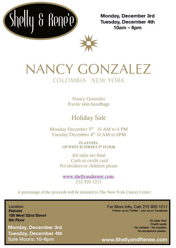 Nancy Gonzalez Sample Sale