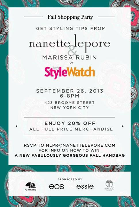Nanette Lepore Fall Shopping Party
