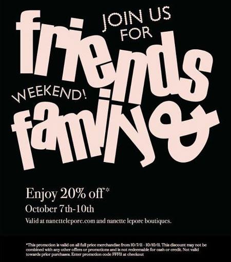 Nanette Lepore Friends & Family Event: Thru 10/10