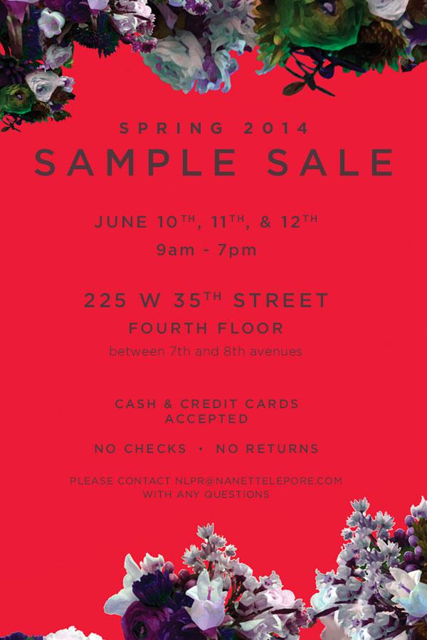 Nanette Lepore Spring Sample Sale