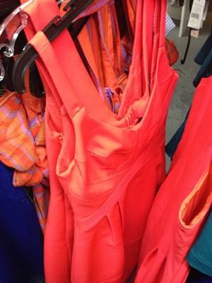 Nanette Lepore Sunset Herbert Orange Sleeveless Dress ($106)
