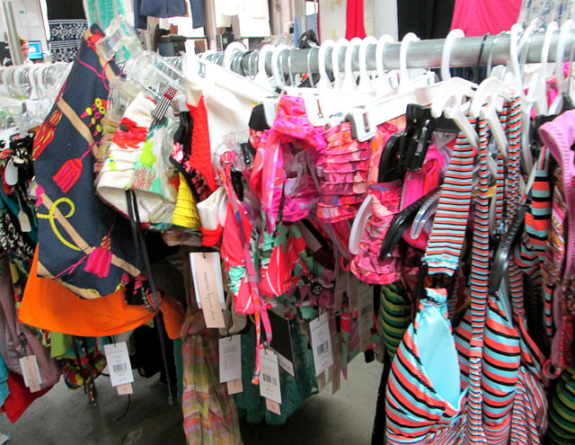 Bathing suits galore, priced at $60
