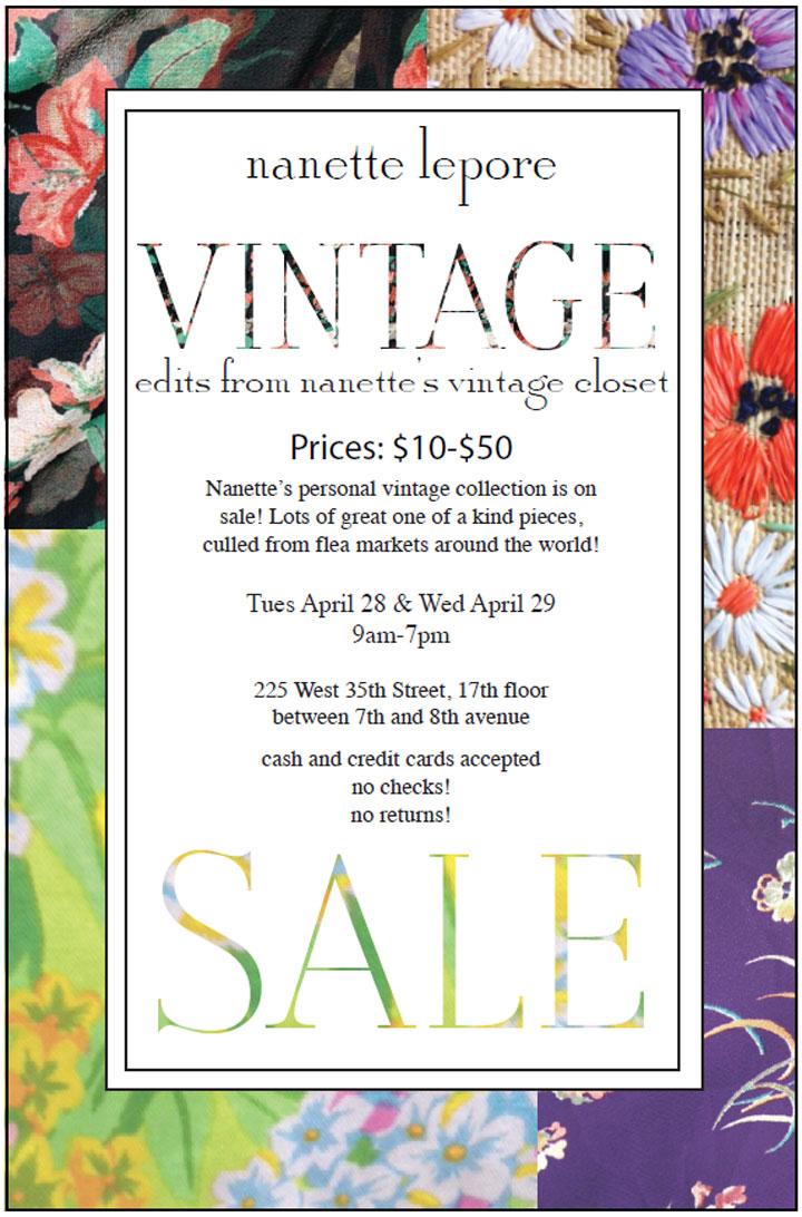 Nanette Lepore Vintage Sample Sale