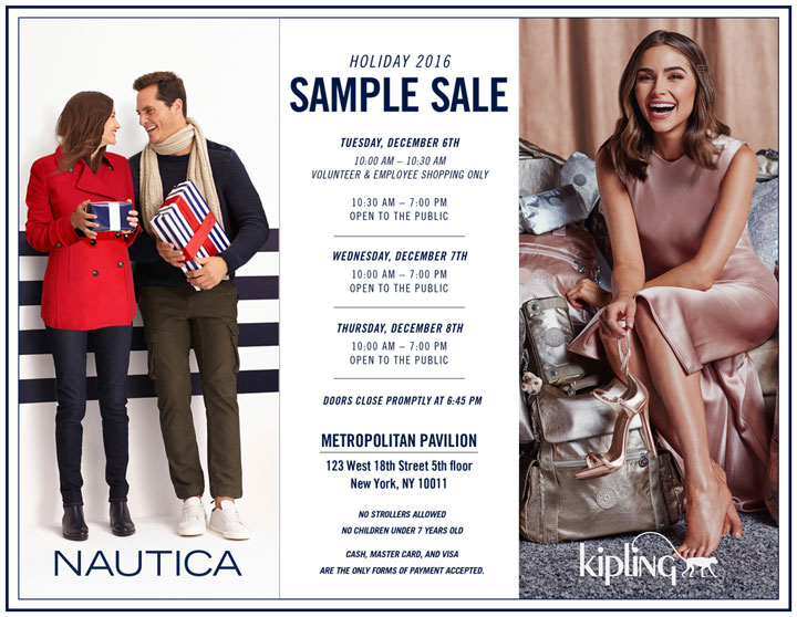 Nautica / Kipling Holiday 2016 Sample Sale