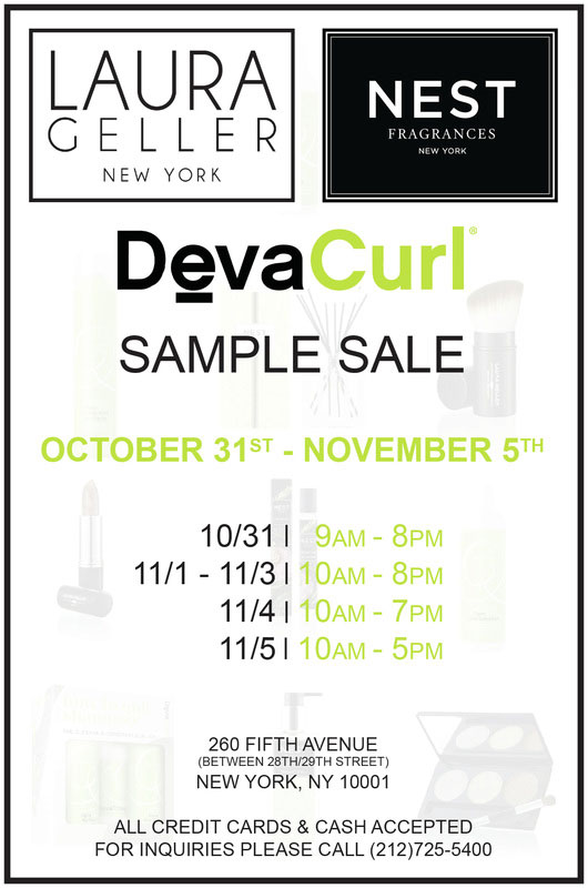 Nest Fragrance, Deva Curl, & Laura Geller Sample Sale