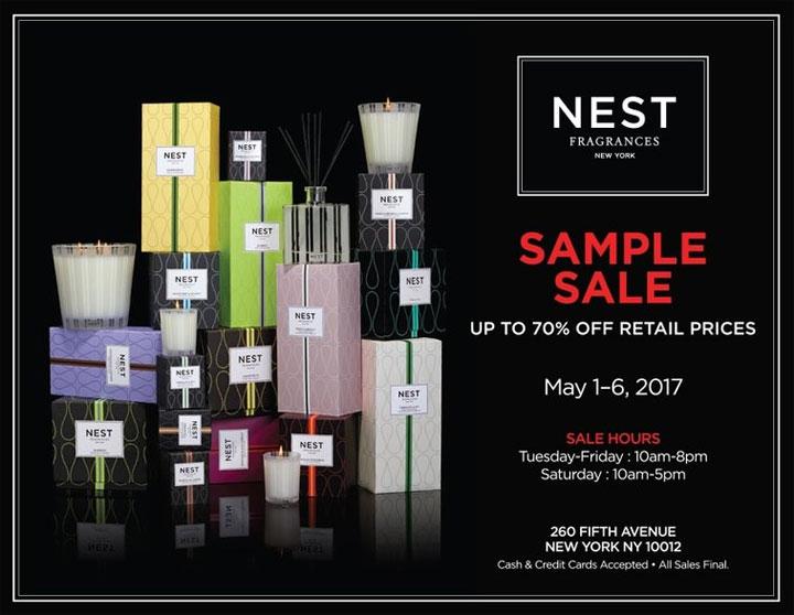 NEST Fragrances New York Sample Sale - TheStylishCity.com