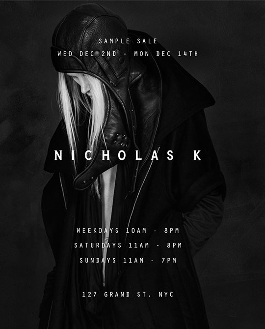 Nicholas K Sample Sale