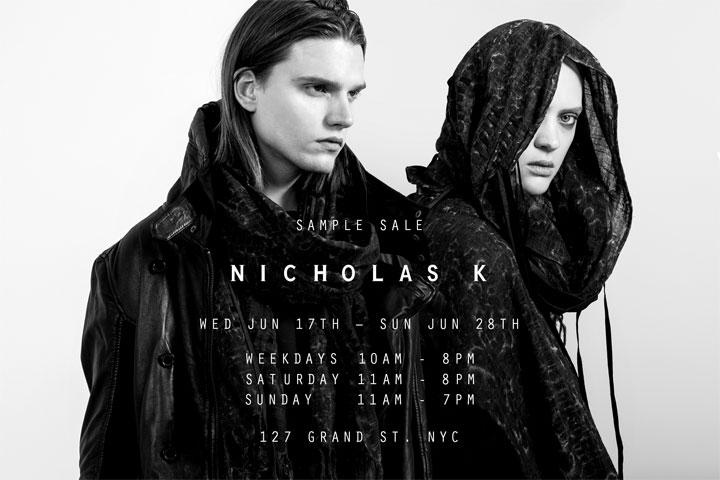 Nicholas K Sample Sale