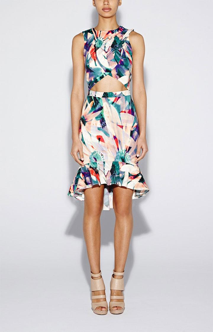 Nicole Miller Artelier Floral Tropica Pari Dress: $210 (orig. 420)
