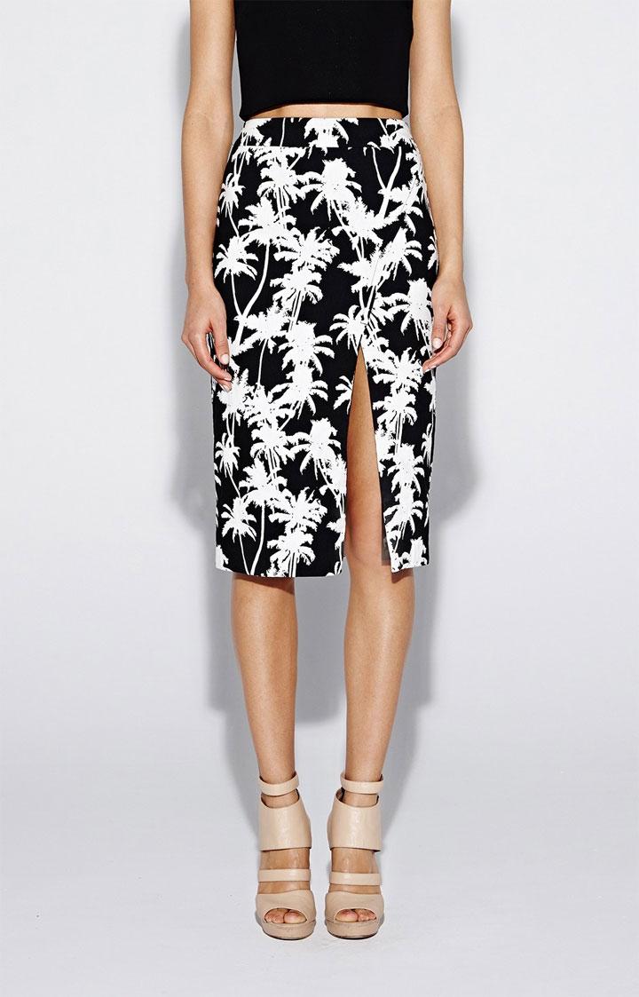 Nicole Miller Artelier Palm Medley Slit Skirt: $105 ($210)