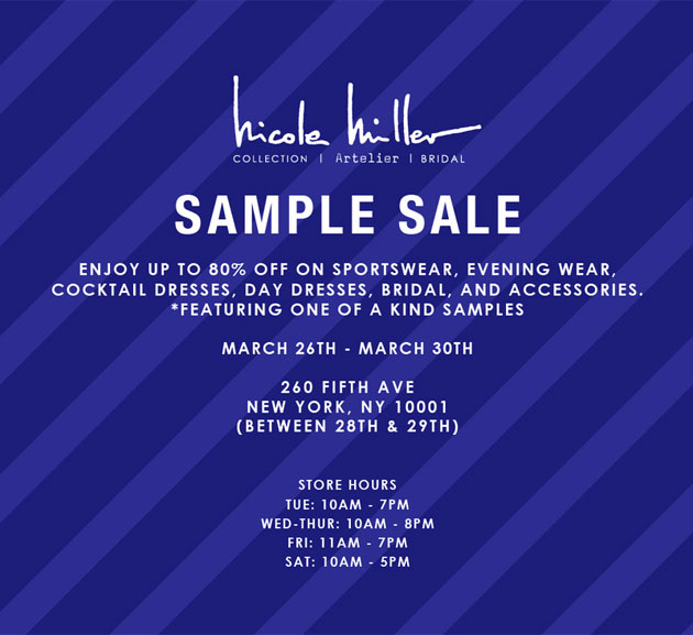 Sample Sales New York City March
