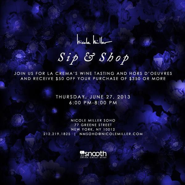 Nicole Miller Sip & Shop