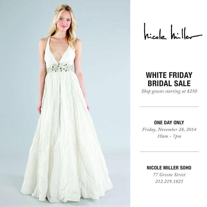 Nicole Miller White Friday Sale