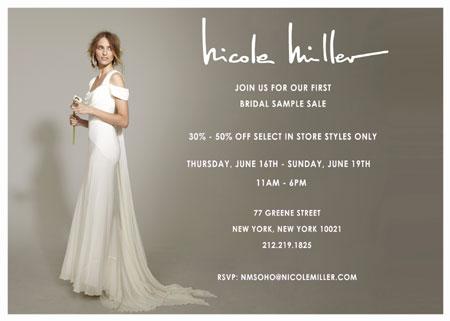 Nicole Miller Bridal Sample Sale