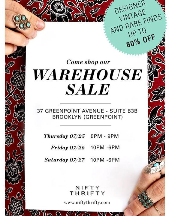 NiftyThrifty Warehouse Sale