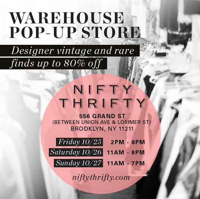 NiftyThrifty Pop-up Warehouse Sale