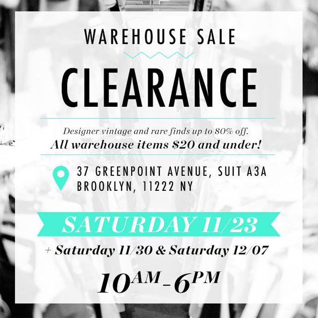 NiftyThrifty Warehouse Clearance Sale