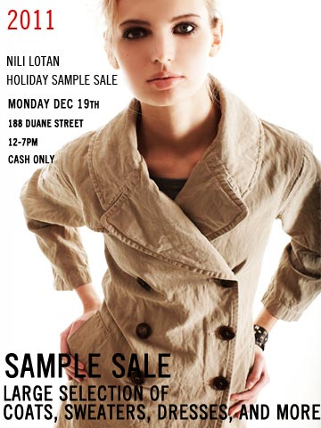 Nili Lotan Sample Sale