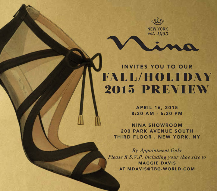 Nina Shoes Fall/Holiday 2015 Preview Event