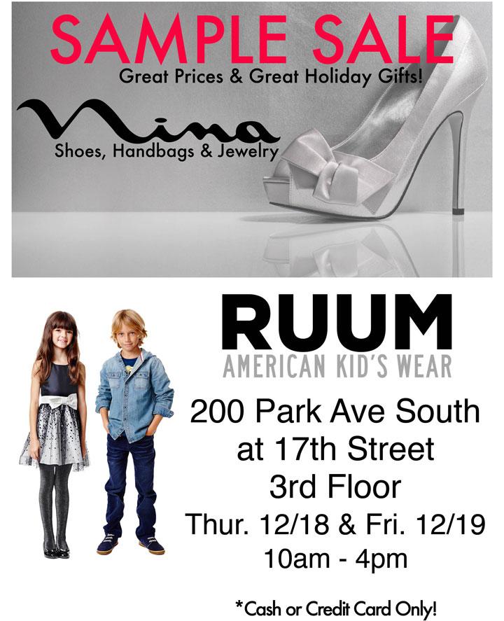 RUUM & Nina Sample sale