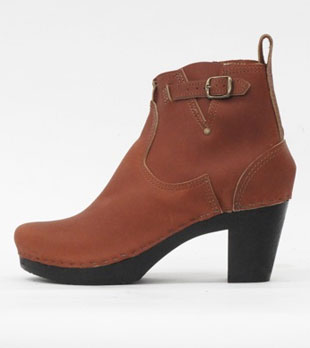 """No.6 5"""" High Heel Buckle Boot in Maple (now $225)"""