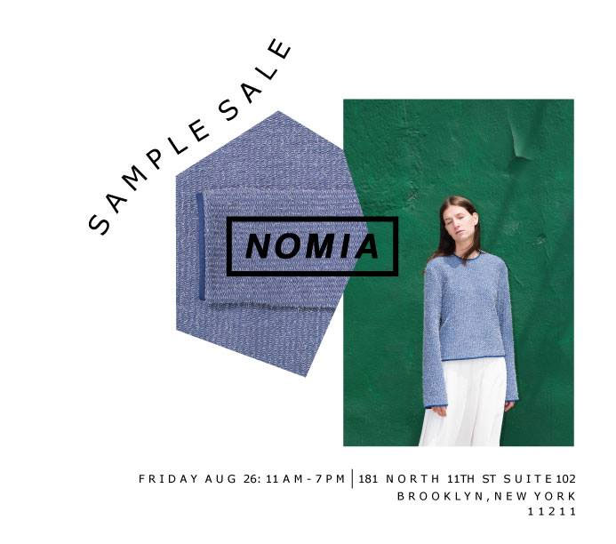 Nomia Sample Sale