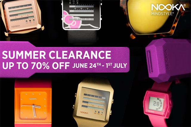 Nooka Online Summer Sale