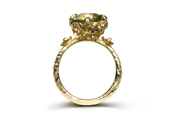 Desiree Ring in 14k with green amethyst: $750 (orig. $1,651)