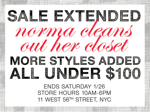 Norma Kamali Warehouse Sample Sale