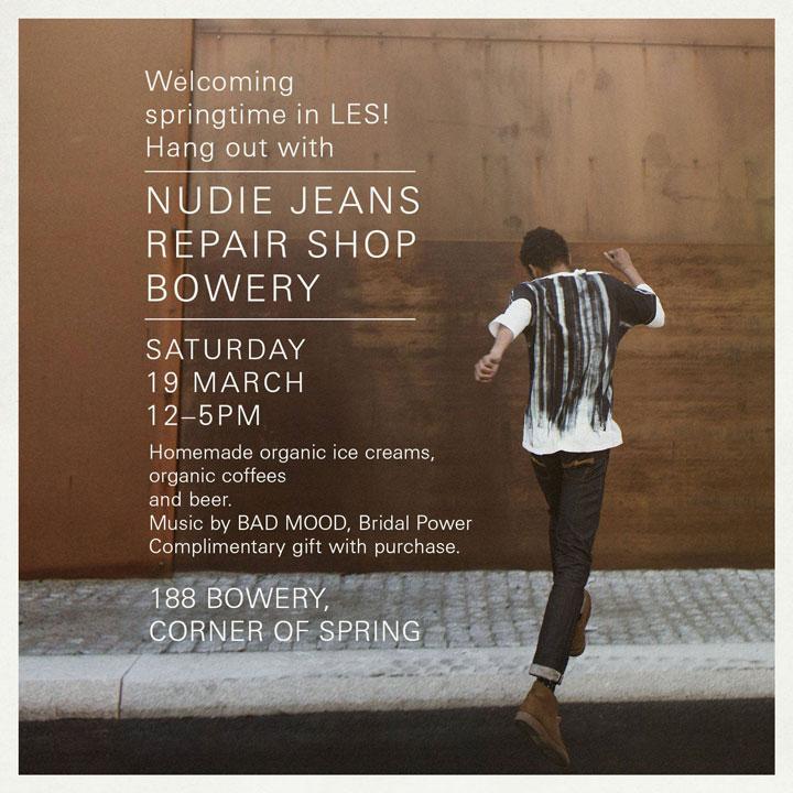 Nudie Jeans Repair Shop Spring Event