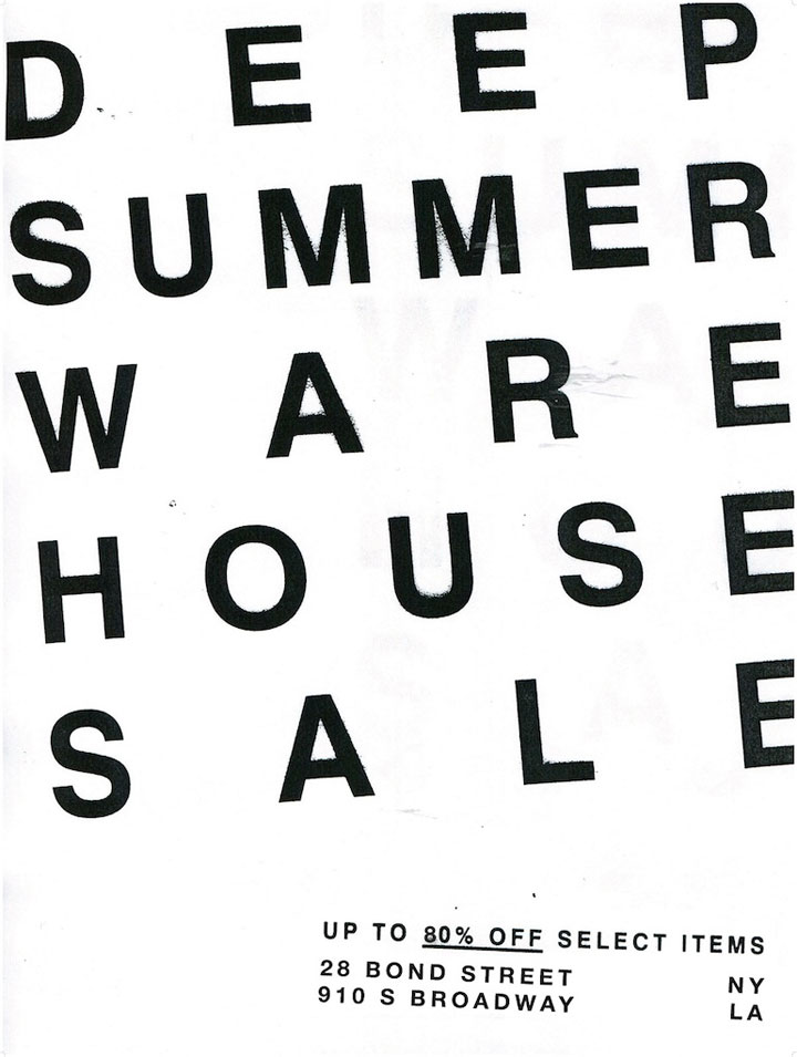 OAK Deep Summer Warehouse Sale