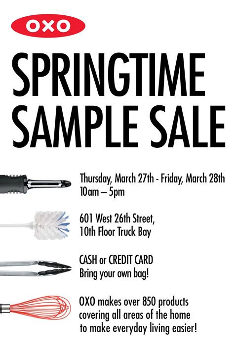 OXO Annual Springtime Sample Sale