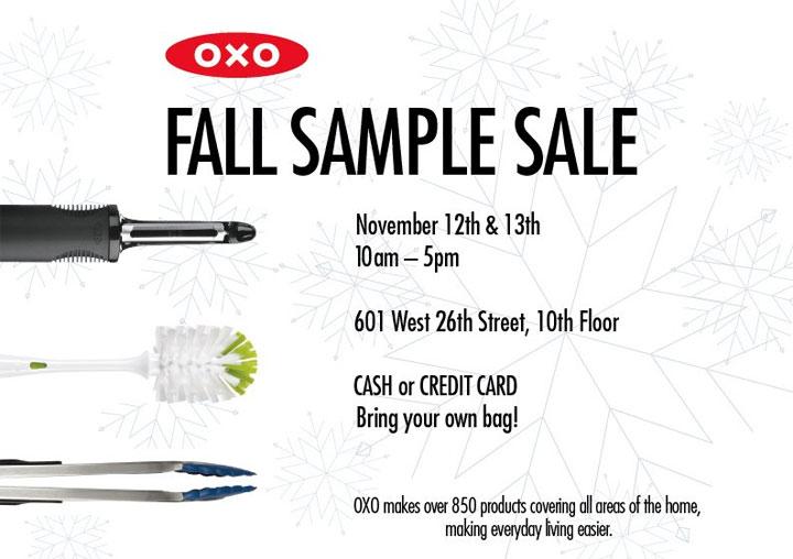 OXO Fall Sample Sale