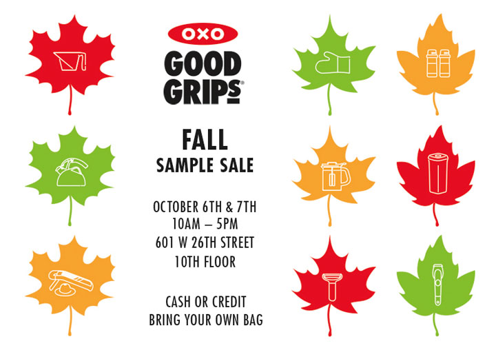 OXO Good Grips Fall Sample Sale