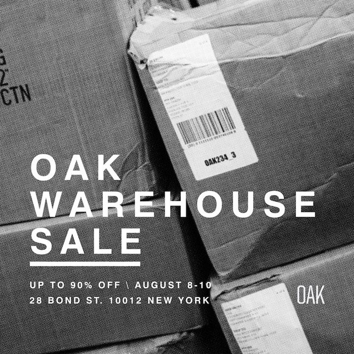 OAK Warehouse Sale