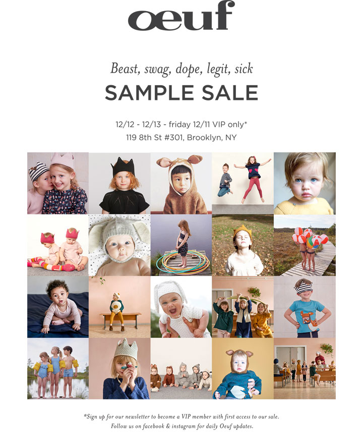 Oeuf Sample Sale