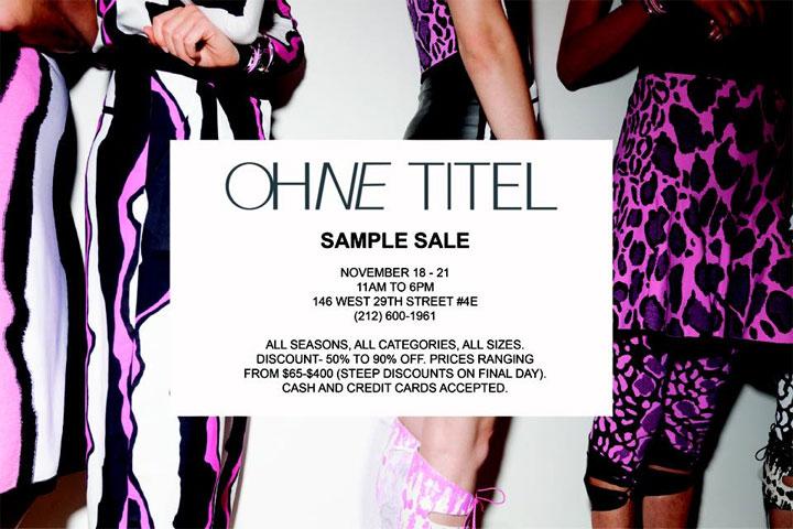Ohne Titel Sample Sale