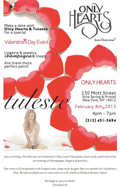 Only Hearts Valentine's Day Shopping Event